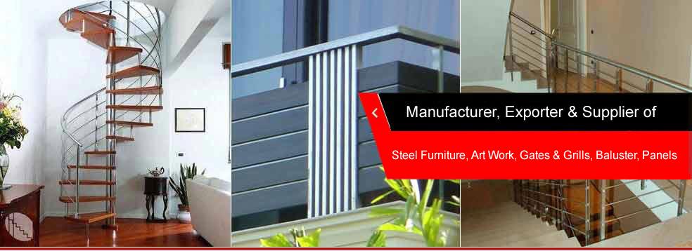 Stainless Steel Railings, Stainless Steel Furniture, Tree Guards