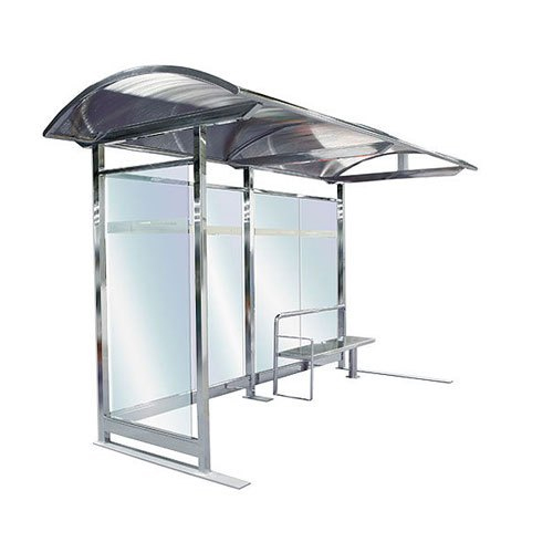Stainless Steel Bus Stop Shelter